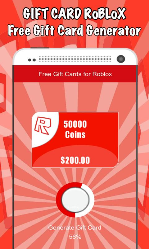 Free Gift Cards for Roblox - Gift Cards for Android - APK