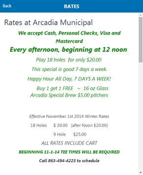 Arcadia Municipal Golf Course poster