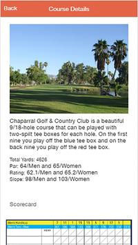 Chaparral Golf & Country Club apk screenshot