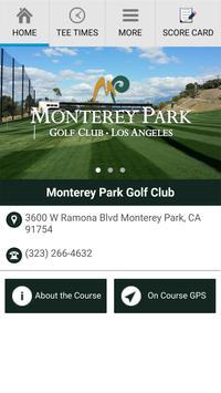 Monterey Park Golf Club poster
