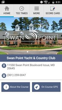 Swan Point Yacht and CC poster