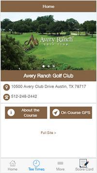 Avery Ranch Golf Club poster