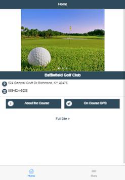 Battlefield Golf Club poster