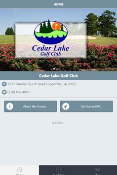 Cedar Lake Golf Club poster