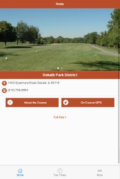 DeKalb Park District Golf poster