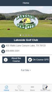 Lakeside Golf Club poster