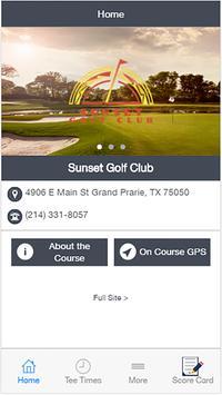 Sunset Golf Club poster