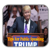 Tips for public speaking icon