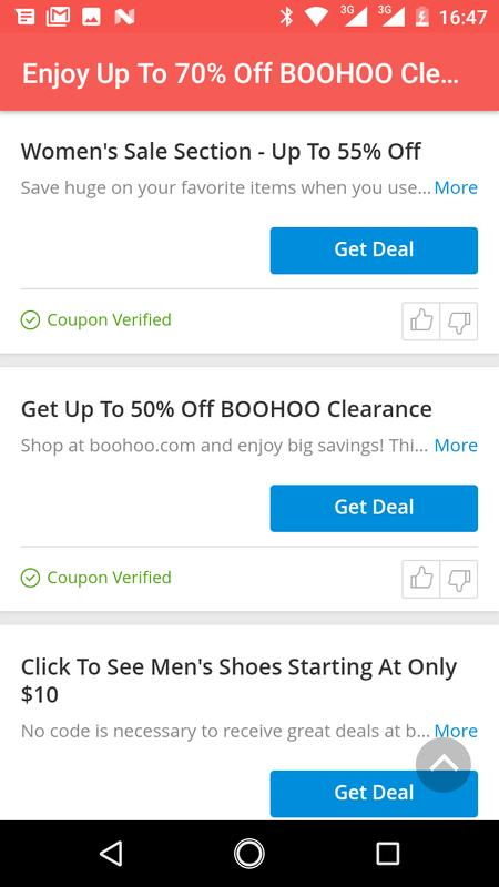 New codes for Boohoo