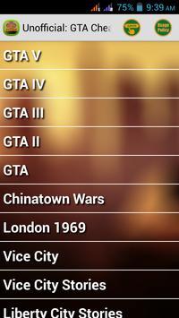 Cheats for GTA All-in-1 apk screenshot