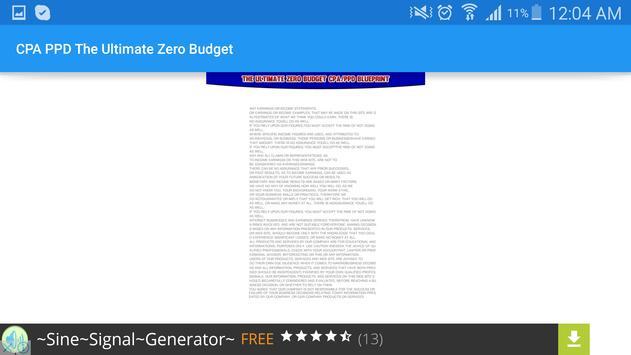 CPA PPD Ultimate Zero Budget apk screenshot