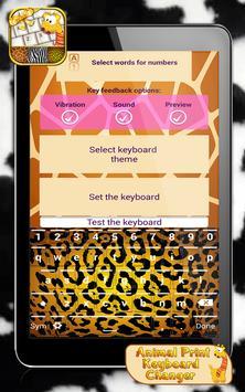 Animal Print Keyboard Changer apk screenshot