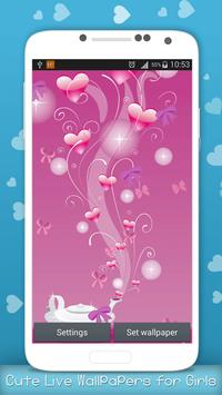 Cute Live Wallpapers for Girls poster