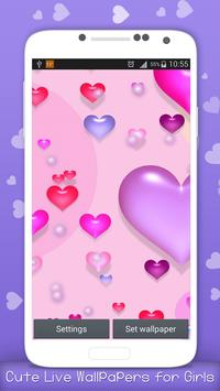 Cute Live Wallpapers for Girls apk screenshot