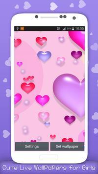 Cute Live Wallpapers for Girls screenshot 2