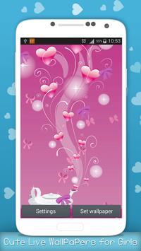 Cute Live Wallpapers for Girls screenshot 6