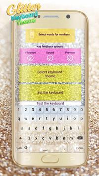 Glitter Keyboard Theme apk screenshot