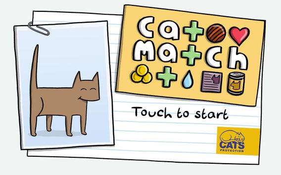 Cat Match from Cats Protection poster