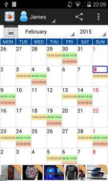Workshifts Calendar Free 2015 poster