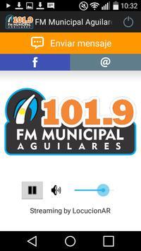 FM Municipal Aguilares 101.9 poster
