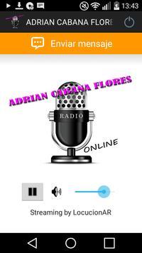 ADRIAN CABANA FLORES poster