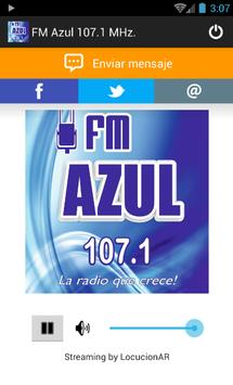 FM Azul 107.1 MHz. poster