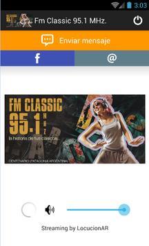 Fm Classic 95.1 MHz. poster