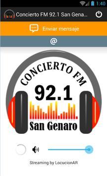 Concierto FM 92.1 San Genaro apk screenshot