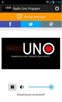 Radio Uno Yrigoyen 88.5 MHz poster