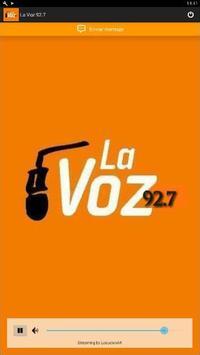 La Voz 92.7 poster