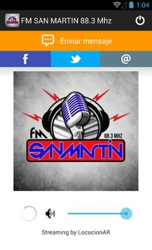 FM SAN MARTIN 88.3 Mhz poster