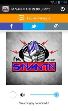 FM SAN MARTIN 88.3 Mhz screenshot 1