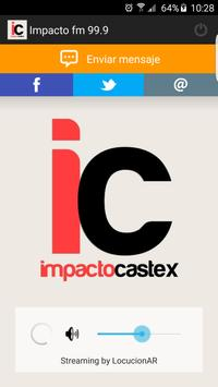 Impacto Castex 99.9 poster