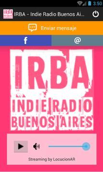 IRBA-Indie Radio Buenos Aires apk screenshot