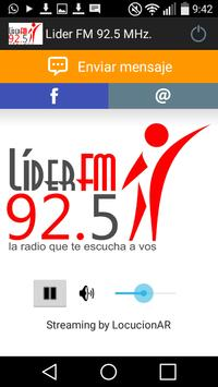 Lider FM 92.5 MHz. poster