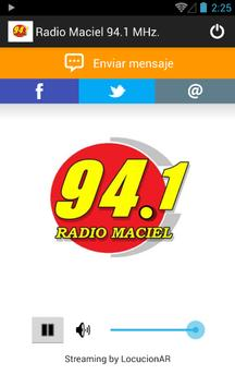 Radio Maciel 94.1 MHz. poster