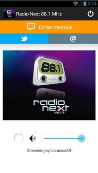 Radio Next 88.1 MHz poster