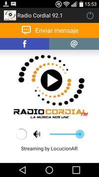 Radio Cordial 92.1 poster