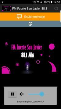 FM Fuerte San Javier 88.1 poster