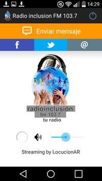 Radio inclusion FM 103.7 poster