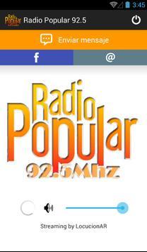 Radio Popular 92.5 poster