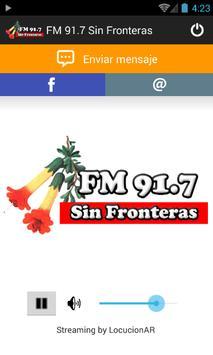 FM 91.7 Sin Fronteras poster