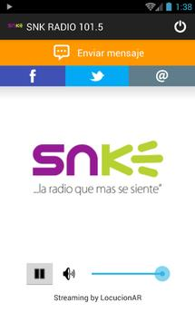 SNK RADIO 101.5 poster