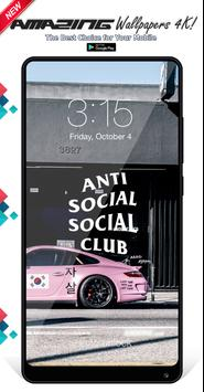 Anti Social Social Club Wallpapers Background poster
