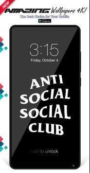 Anti Social Social Club Wallpapers Background screenshot 4