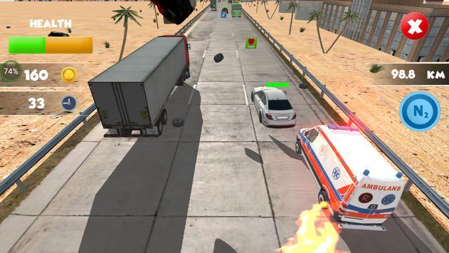 Ambulance Highway Crash Derby screenshot 1