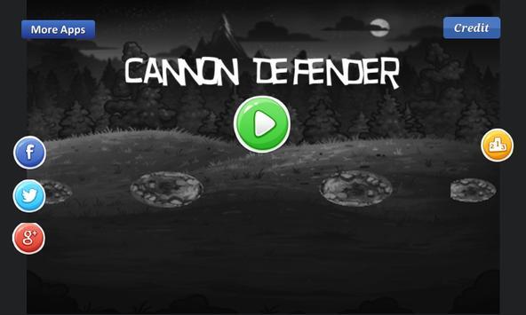 Cannon Defender -defend castle poster