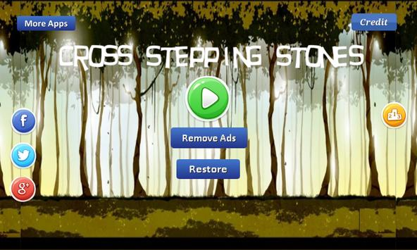 Cross Stepping Stones - forest poster