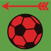 Bounce Ball - shoot arrow icon
