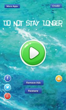 Do Not Stay Longer -lotus leaf poster